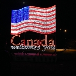 USA Flag Animated Display