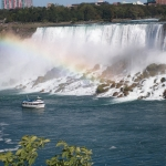 Shot of Maid of the Mist with Rainbow