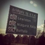 Shot of Road Destination Sign
