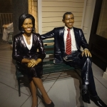 Barack and Michelle Obama Wax Figures