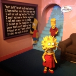 Bart and Lisa Simpson Wax Figures