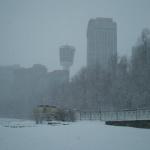 Shot of Niagara Falls Area in the Winter