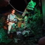Brendan Fraser and Jurassic Park Wax Figures
