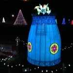 Buddist Temple Bell at Winter Festival of Lights