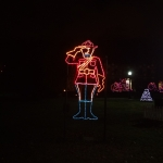 Canadian Mountie Lighting Display at the Winter Festival of Lights