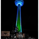 Skylon Tower Lights at Night Time