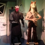Darth Maul and Jar Jar Binks Wax Figures