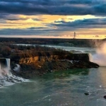 Picture of Sunset in Niagara Falls