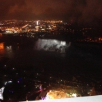Night Time View of Niagara Falls via Skylon Tower