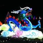 Blue Dragon at the Winter Festival of Lights