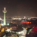 Shot of Skylon Tower at Night