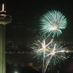 Fireworks Near the Skylon Tower
