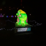 Green Creature at Winter Festival of Lights