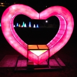Heart Animated Display at the Winter Festival of Lights