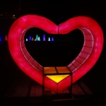 Heart Lighting Display at the Winter Festival of Lights