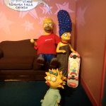 Homer, Marge and Maggie Simpson Wax Figures