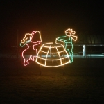 Igloo Building Lighting Display