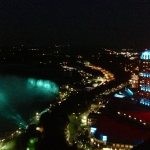 Aerial Shot of Niagara Falls at Night