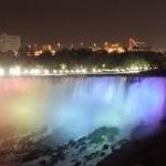 Illumination of Niagara Falls