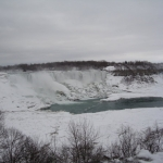 Shot of Niagara Falls in the Winter
