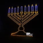 Menorah Animated Lighting Display