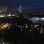 Nighttime Shot inside the Niagara Falls Skywheel