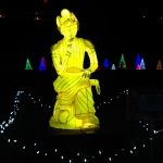 Pensive Bodhisattva Lighting Display