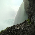 A Picture During Journey Behind the Falls