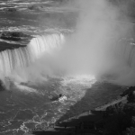 Maid of the Mist Black and White Shot