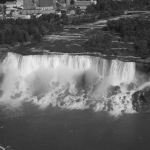 Black and White Shot of Niagara Falls