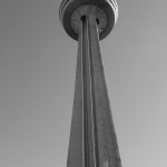 Black and White Skylon Tower Shot