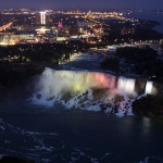 Illumination of Niagara Falls