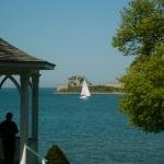 Sailboat in Niagara Falls