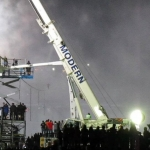 Setting up Nik Wallenda Stunt in Niagara Falls