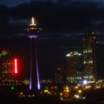 Skylon Tower at Night Time