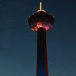 Skylon Tower at Night