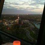 Shot of Niagara Views Skyline From Revolving Dining Room