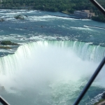 Shot of Niagara Falls At Observation Deck of Skylon Tower
