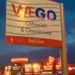 WeGo Sign in Niagara Falls