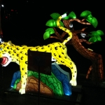 Leopard and Magpie Lighting Display at the Winter Festival of Lights