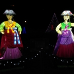 Women in Traditional Dress in Korea Display