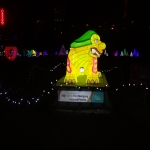 Yellow Creature at the Winter Festival of Lights
