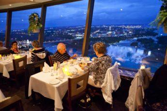 Skylon Tower Revolving Restaurant Overlooking Niagara Falls