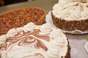 Part of the dessert selection at our Skylon Tower Revolving Restaurant