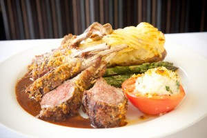 Skylon tower Dinner Menu lamb