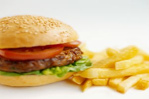 Burger and Fries meal from the Skylon Tower Revolving Restaurant childrens menu