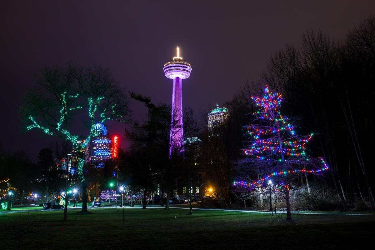 The Winter Festival Of Lights In Niagara Falls Skylon