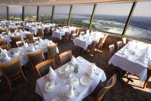 revolving restaurant niagara falls view