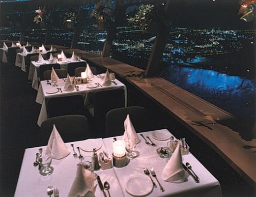skylon tower view night