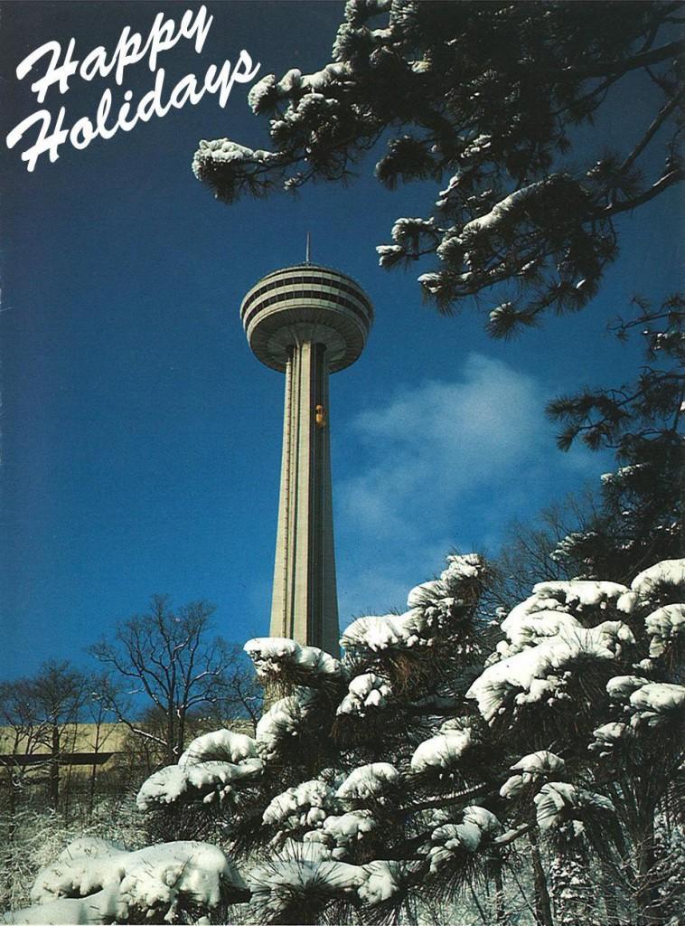 happy holidays skylon tower